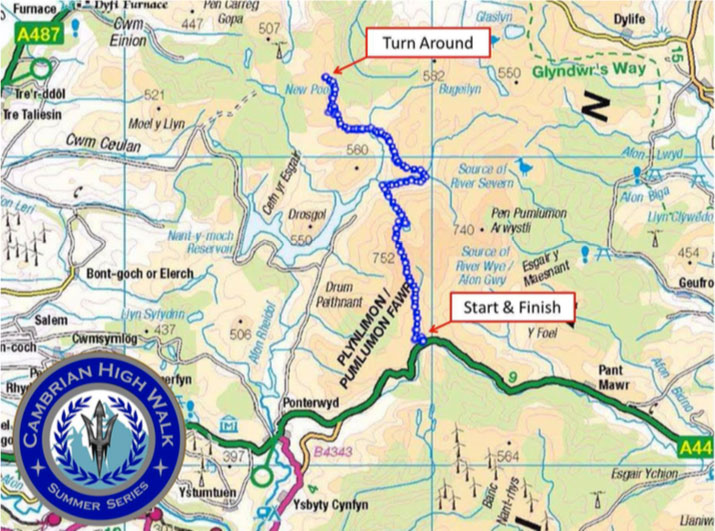 2018 Cambrian High Walk Summer Series route