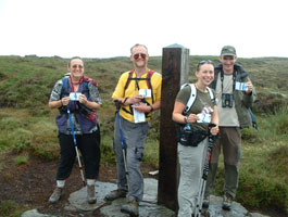 Sarn Sabrina walk with walkers at the Source of the Severn