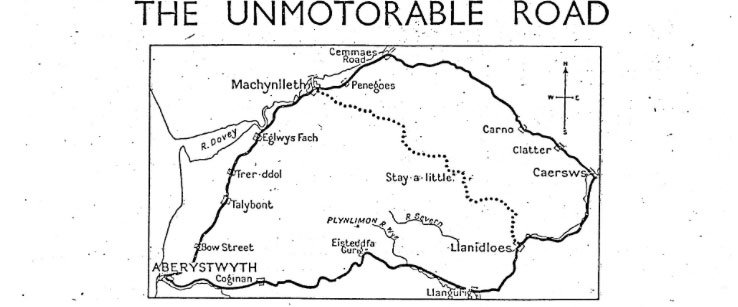 Unmotorable road article from 1930s